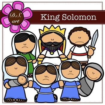 350x350 King Solomon Clipart (Color And Blackampwhite) By Dsart Tpt