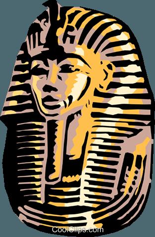 313x480 King Tut's Mask Royalty Free Vector Clip Art Illustration