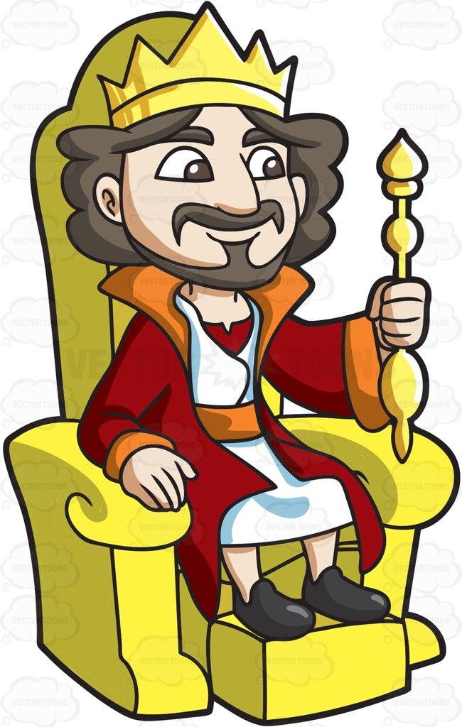 650x1024 King Throne Clipart