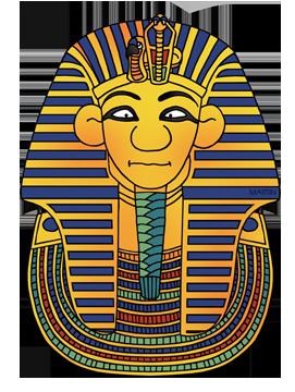 271x360 Ancient Egypt Clip Art By Phillip Martin, King Tut's Mask