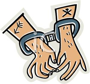 300x282 Clipart Picture Hands In Metal Handcuffs