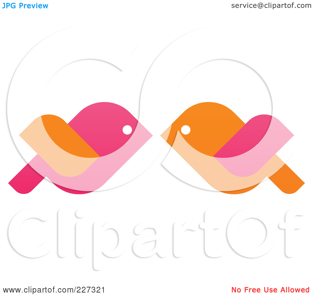 1080x1024 Kissing Birds Clipart