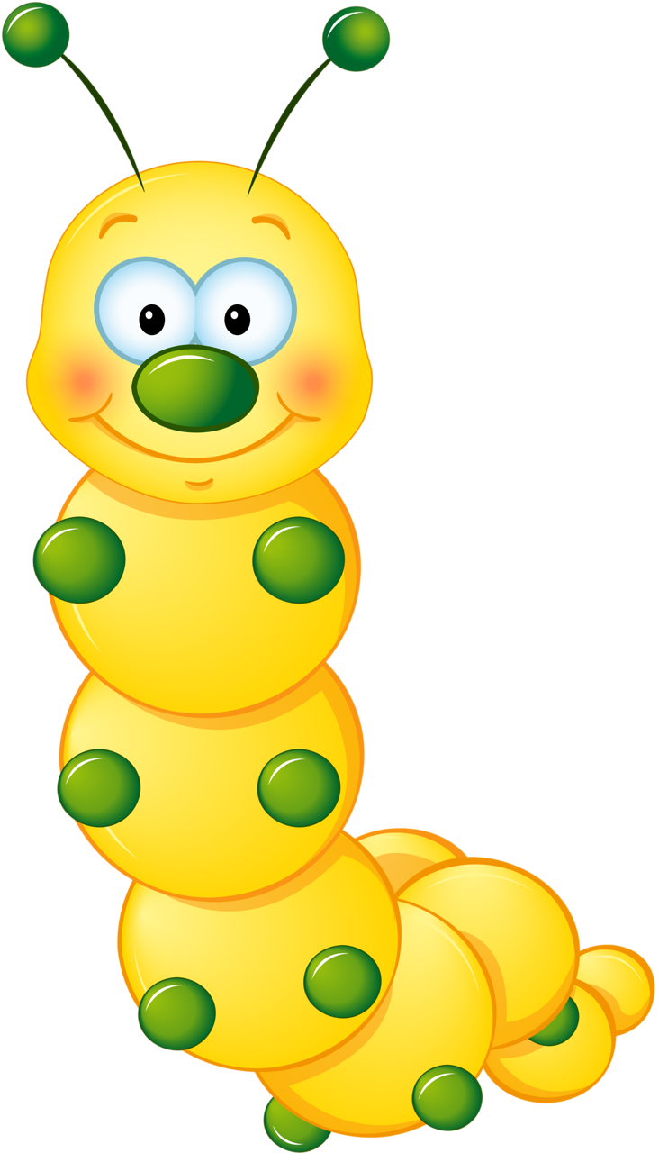 732x1280 Yellow Cute Caterpillar Clipart Rovarok,