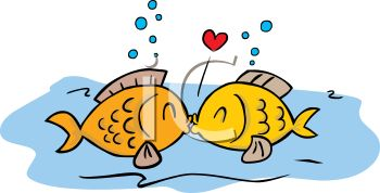 350x178 Cartoon Of Two Fish Kissing