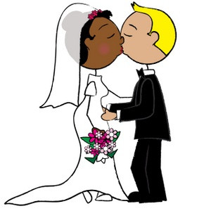 300x300 Clip Art Wedding Kiss Cartoon Clipart Image Bride And Groom