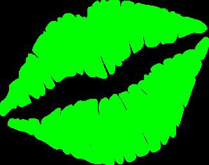 299x237 Green Kiss Cliparts