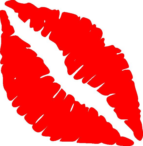 588x599 Red Lips Kiss Clip Art