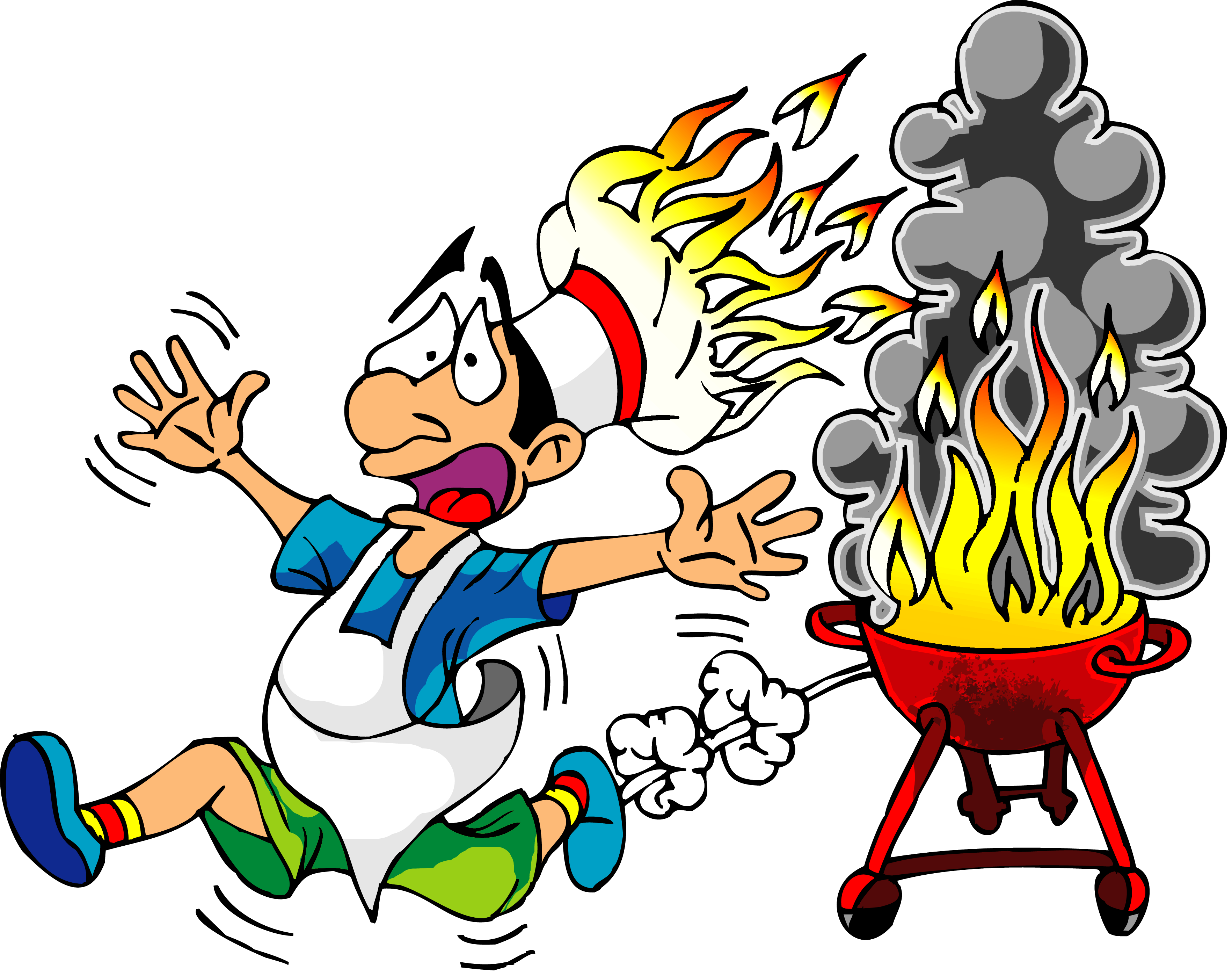 3527x2793 Cook With Fire Hat Funny Clip Art
