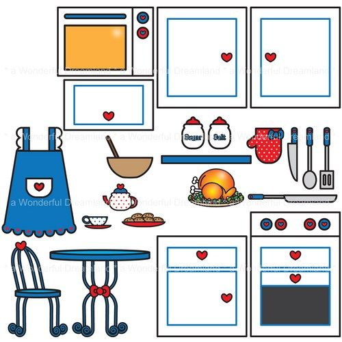 500x500 Kitchen Pdf Png Digital Clip Art File Clip Art, Dollhouse Ideas