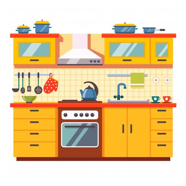 626x626 Free Kitchen Clipart Kitchen Wall Interior Vector Free Download