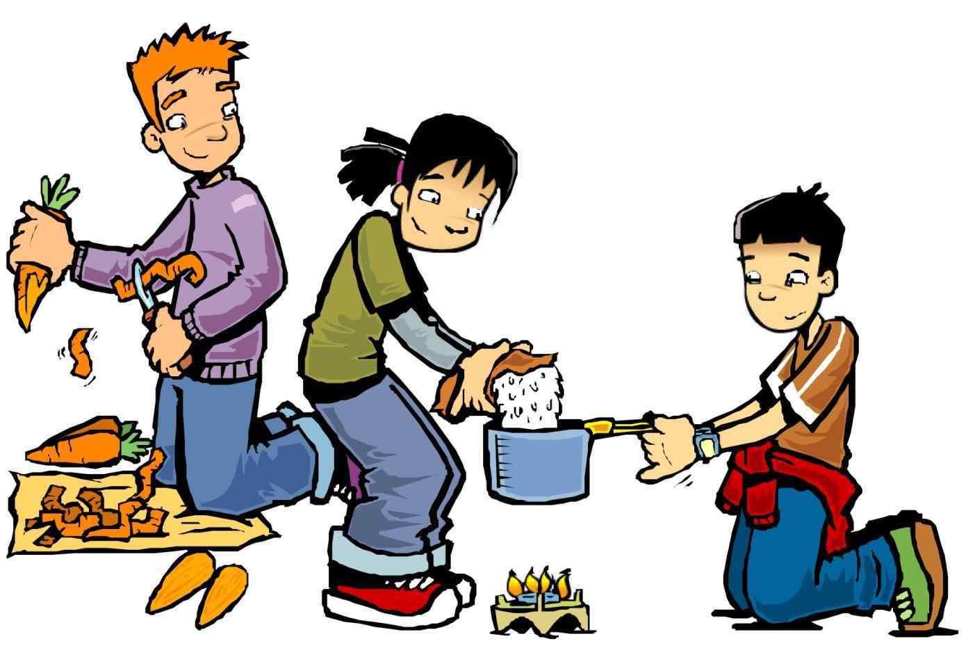 1390x945 Children Cooking Kitchen Stock Vector Rhshutterstockcom Play