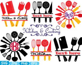 340x270 Kitchen Svg File Cutting Files Cricut Amp Cameo Kitchen Utensils