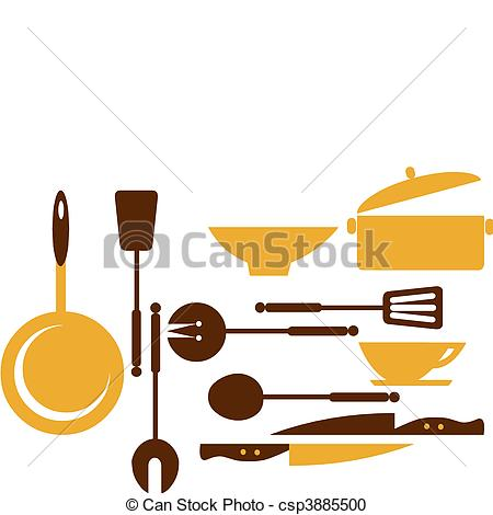 450x470 Kitchen Tools For Cooking And Frying 1. Kitchen Tools Vector