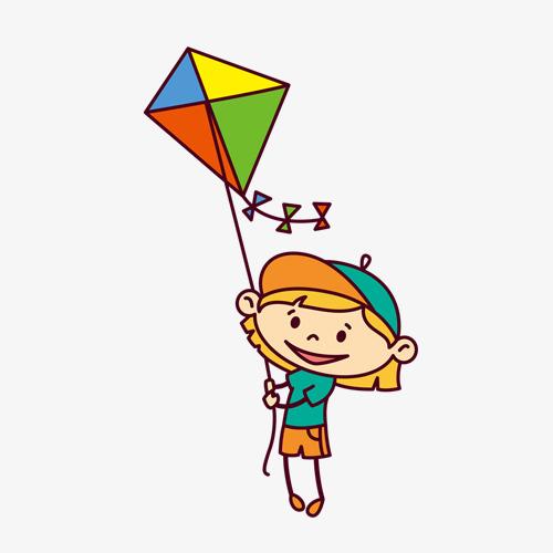 500x500 Cartoon Kite Flying Girl, Cartoon, Kite Girl, Little Girl Png