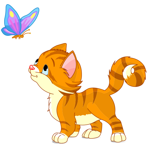600x600 Butterfly Kitten Butterfly, Clip Art And Turtle Crafts