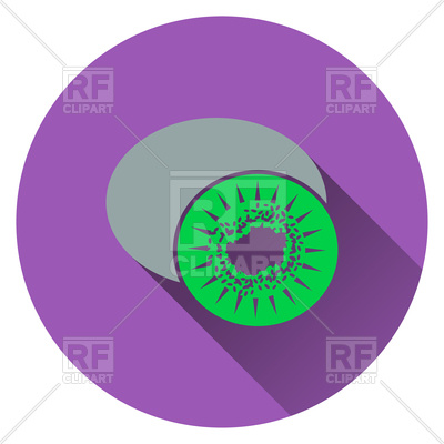400x400 Flat Design Of Kiwi Icon Royalty Free Vector Clip Art Image