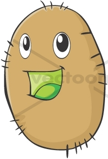 218x320 Happy Kiwi Fruit Cartoon