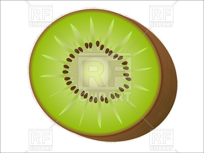 400x300 Kiwi Cut Royalty Free Vector Clip Art Image