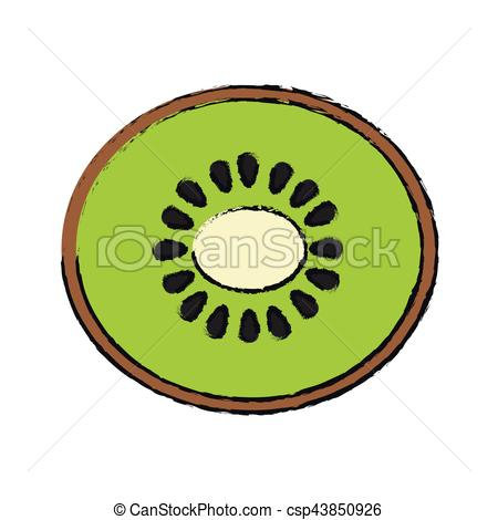 450x470 Kiwi Fruit Icon Over White Background. Vector Illustration Vector