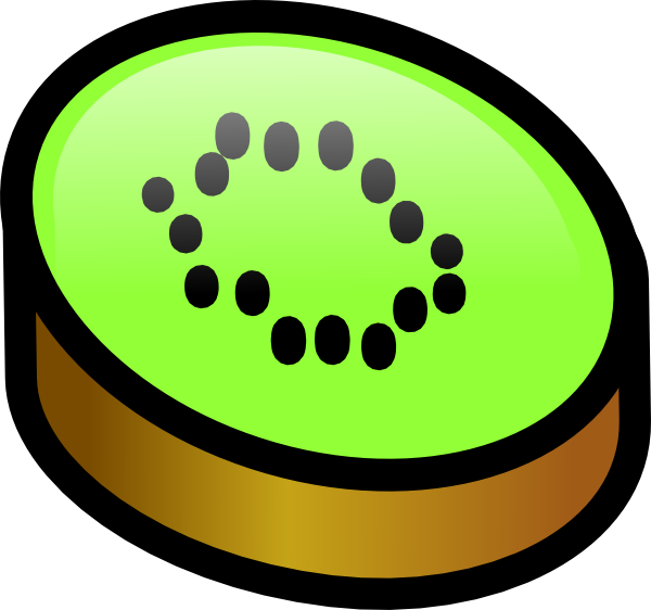 600x562 Kiwi Fruit Slice Clip Art