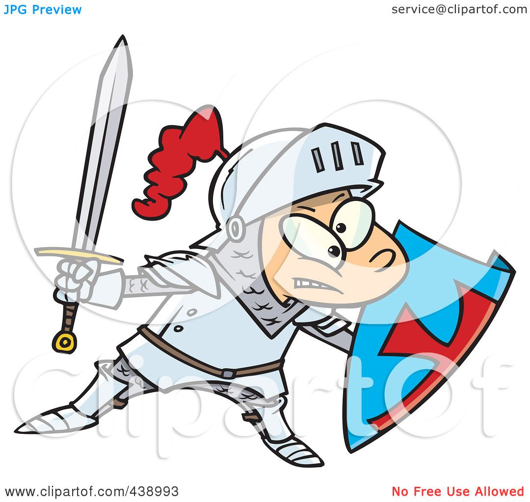 1080x1024 Royalty Free (Rf) Clip Art Illustration Of A Cartoon Jousting