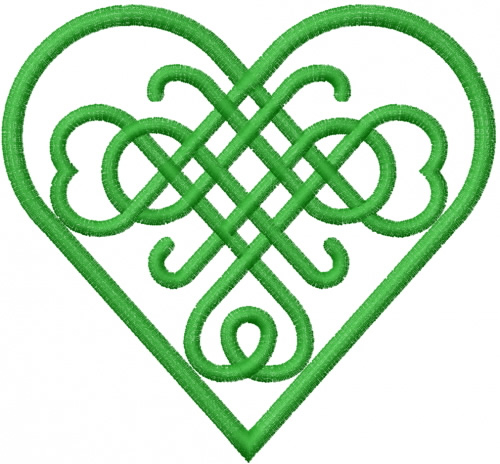 500x464 Clip Art Celtic Heart Knots Clipart
