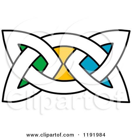 450x470 Clipart Of A Colorful Celtic Knot Design Element 6