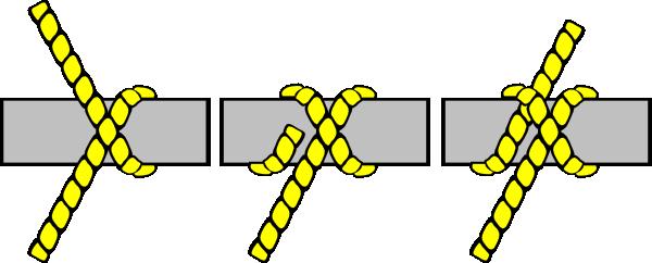 600x242 Knot Illustration (Clove Hitch) Clip Art Free Vector 4vector