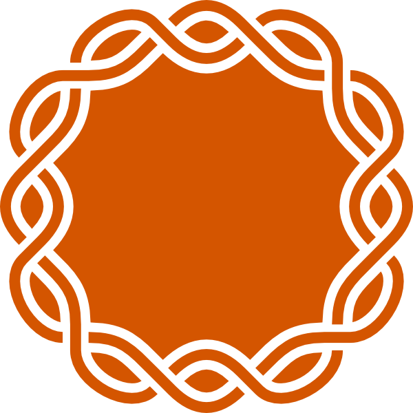 600x600 Orange Knot Frame Clip Art