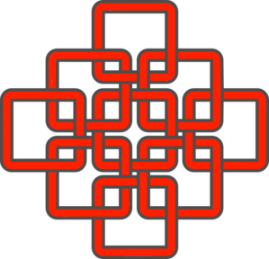 299x288 Celtic Knot Red Clip Art