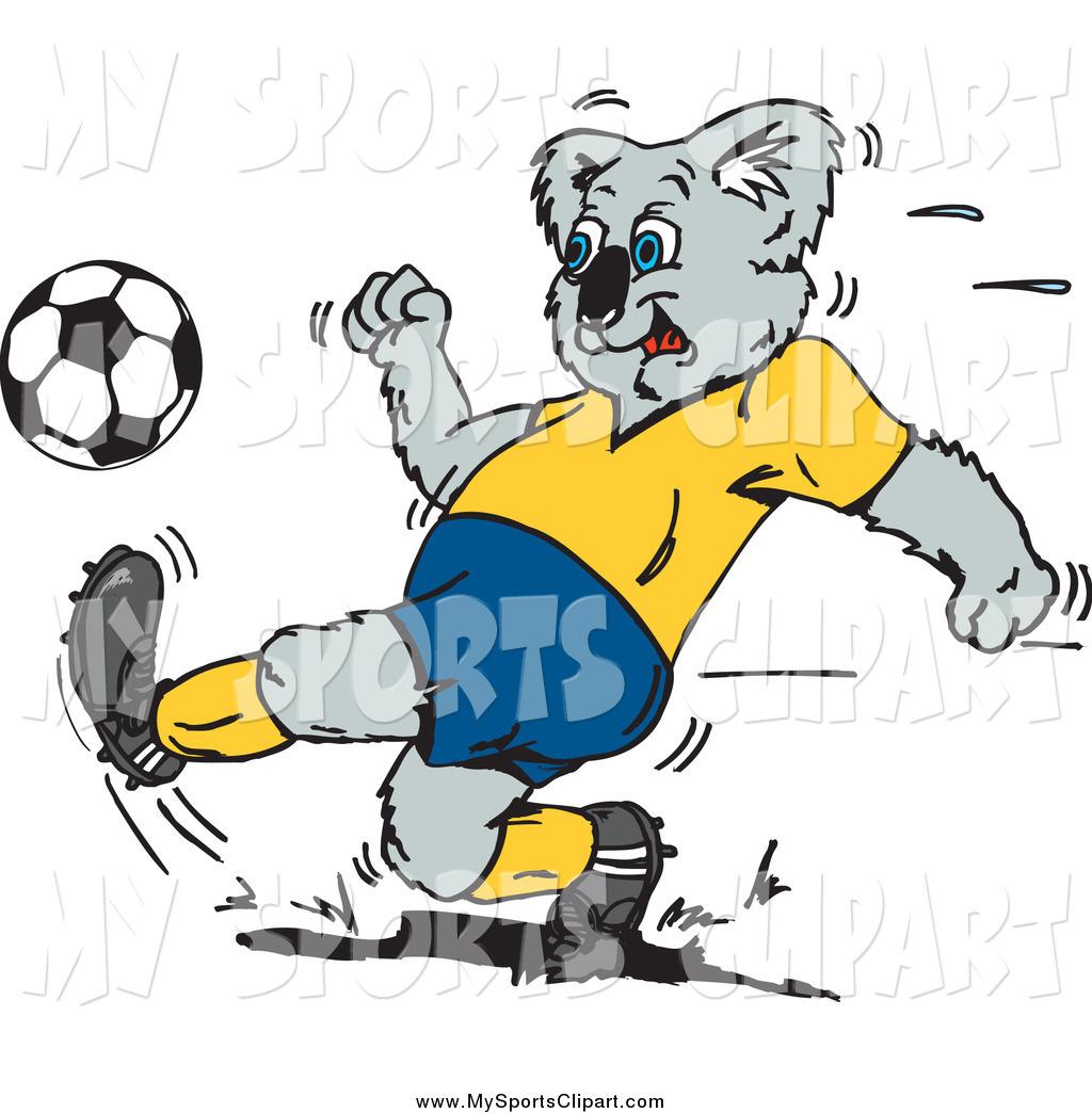 1024x1044 Sports Cliprt Of Sporty Koala Kicking Soccer Ball During