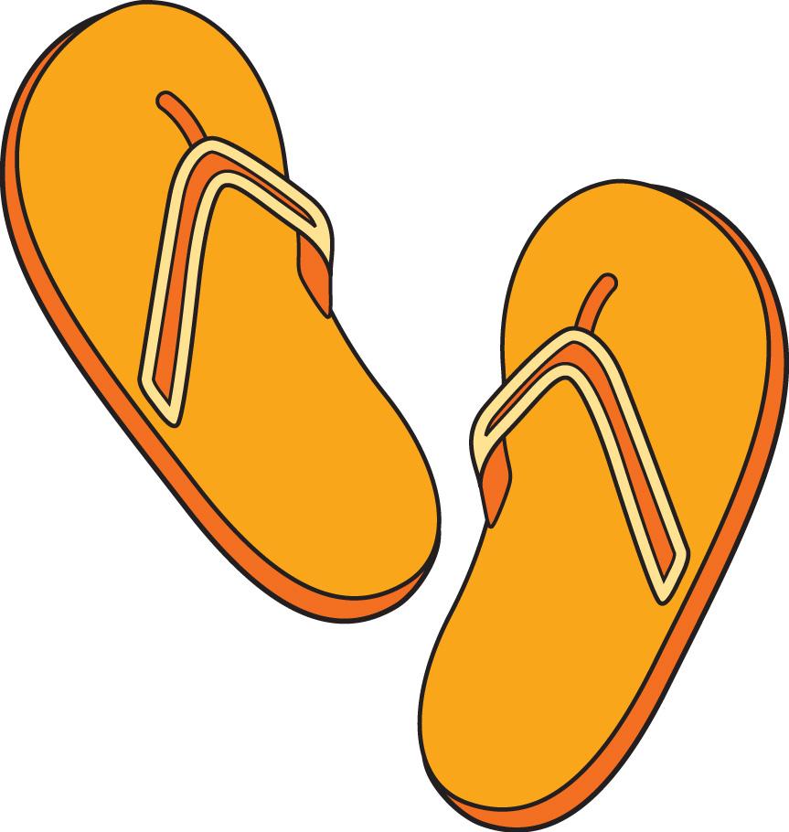 863x910 Sandal Clipart Flip Flop