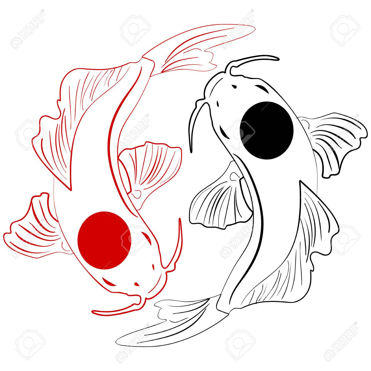 1300x1300 Chinese Koi Fish Clip Art Free. Excellent Sumie Sumie Black Ink