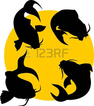 401x450 Koi Fish Clipart Silhouette