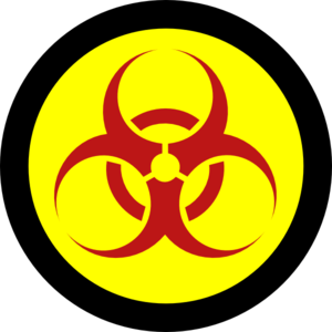 300x300 Red Biohazard On Yellow With Black Clip Art