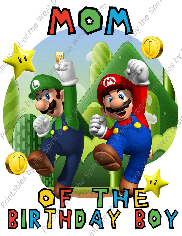1159x1500 Mom Of The Birthday Boy Super Mario Brothers Image Printable