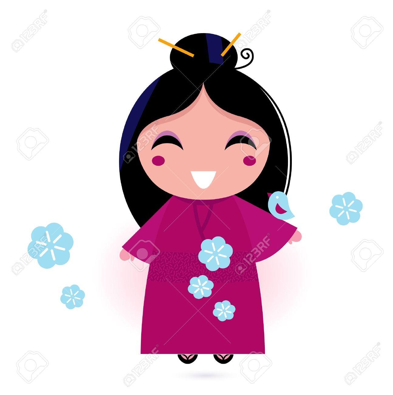 1294x1300 Clipart Korean Girl Cute