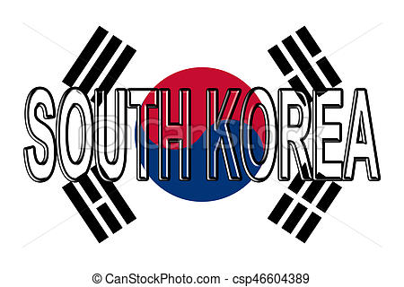 450x320 Flag Of South Korea Word. Illustration Of The Flag Of South