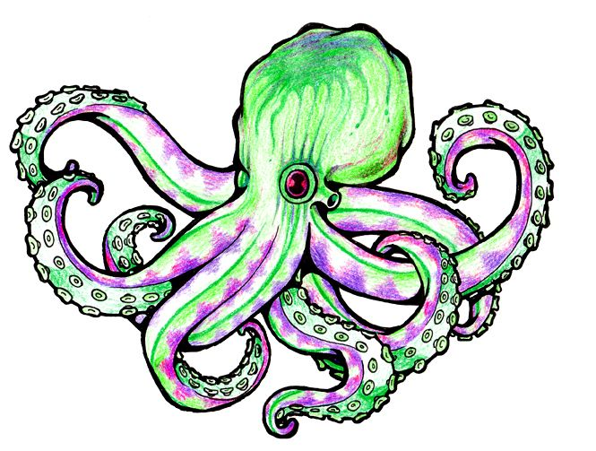 665x503 Octopus Tattoo Designs Clipart Best Cartoon Octopus Weapons