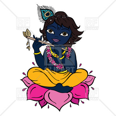 400x400 Krishna Meditates On Lotus