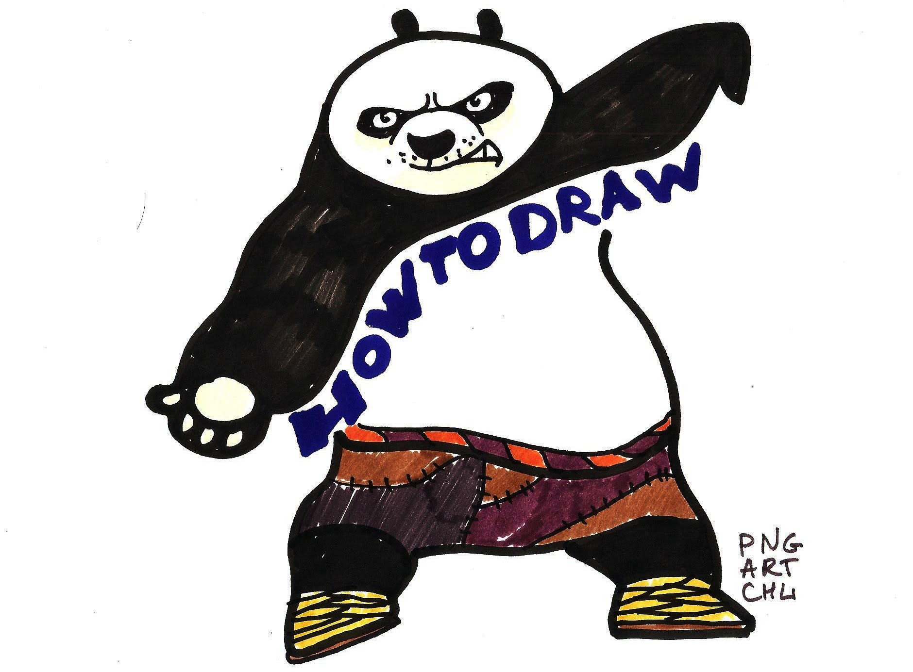 1880x1385 How To Draw Po Kung Fu Panda