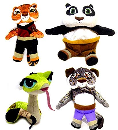 411x450 Kung Fu Panda Movie Set Of 4 Basic Plush 4 Inch