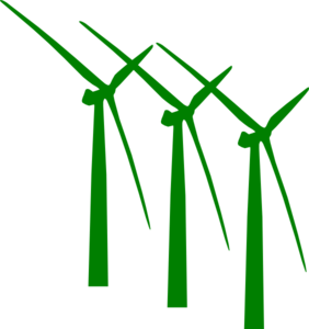282x300 Green Wind Mills Clip Art
