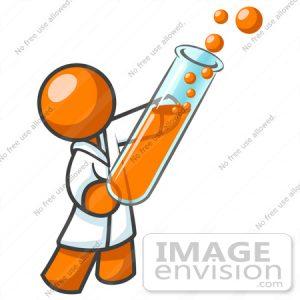 300x300 Lab Test Clipart Clip Art Graphic Of An Orange Guy Scientist