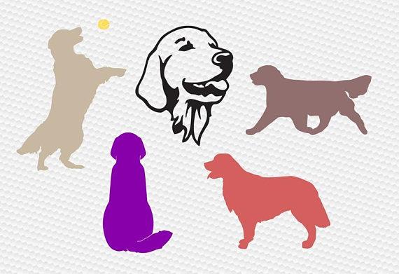 570x391 Golden Retriever Svg, Dog Svg, Dog Silhouettes Svg, Labrador Svg