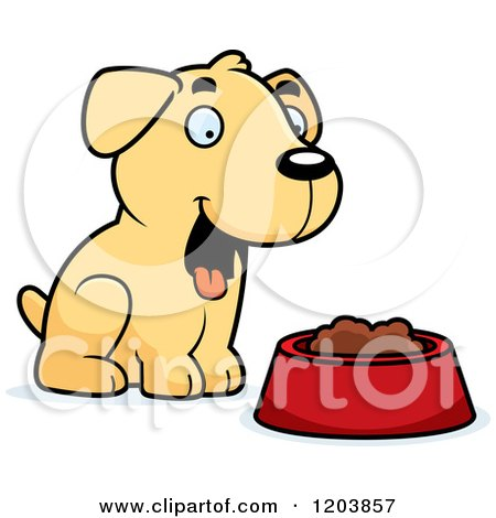 450x470 Clipart Of A Happy Yellow Labrador Retriever Dog Sitting