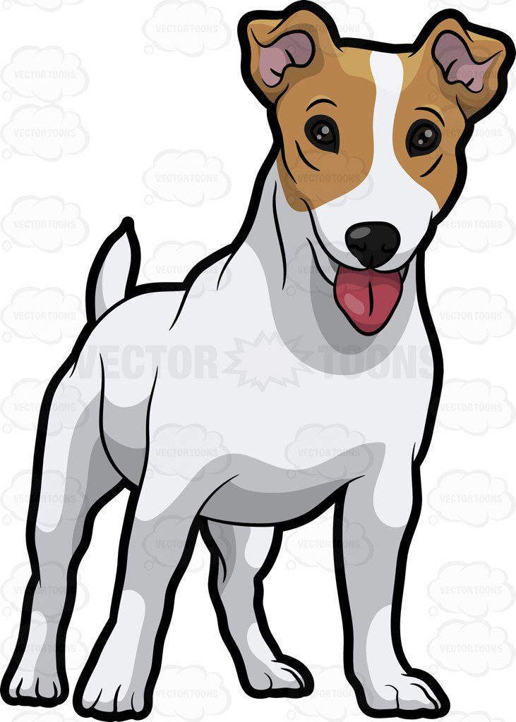 731x1024 A Friendly Jack Russell Terrier Puppy Cartoon Clipart Vector Toons