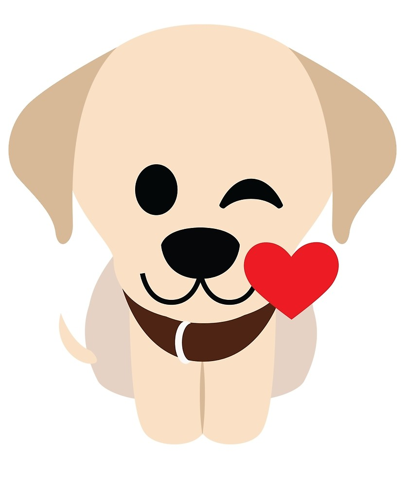 833x1000 Labrador Retriever Emoji Flirting And Blowing Kiss By Teeandmee