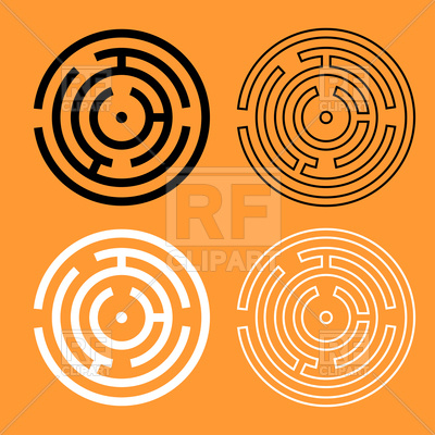 400x400 Circle Maze Or Labyrinth