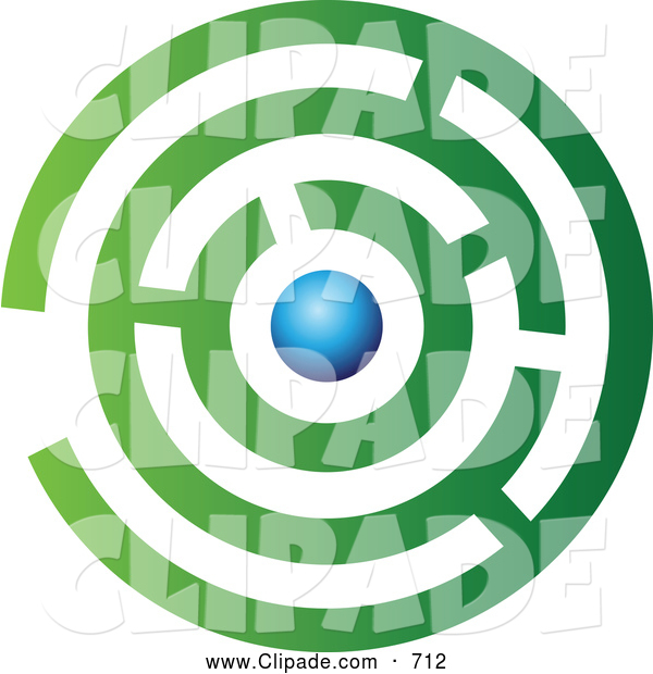 600x620 Clip Art Of A Complex Abstract Green And Blue Maze Logo Icon